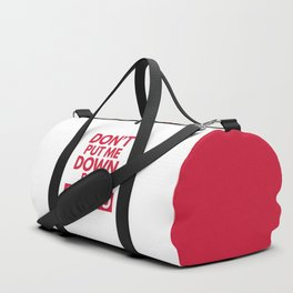 Down for Cardio Funny Gym Quote Duffle Bag