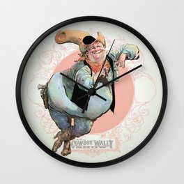 Cowboy Wally Lean Wall Clock