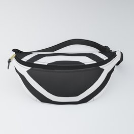 Black and White Geometric Fanny Pack