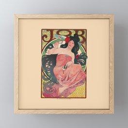 Alphonse Mucha Job Rolling Papers Art Nouveau Woman Framed Mini Art Print