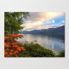 Springtime in Montreux, Switzerland Canvas Print