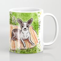 lab Mugs featuring Golden Lab by Renee Kurilla