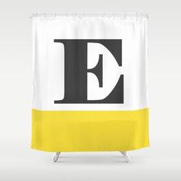 Monogram Letter E-Pantone-Buttercup Shower Curtain