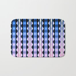 Pink Blue Verticals Bath Mat