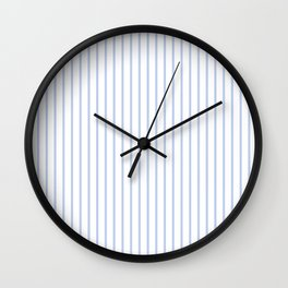 Alice Blue Pinstripe on White Wall Clock