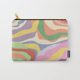 Retro Colorful Swirl Pattern Carry-All Pouch