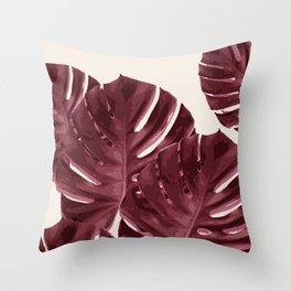 Monstera, Ancora, #2 Throw Pillow