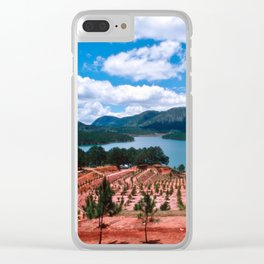 Magic Lake of Central Highland in Vietnam Clear iPhone Case