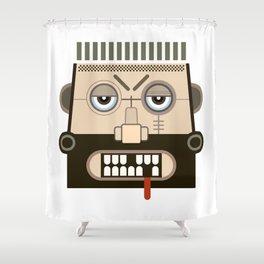 Starkad's Face. Scandinavian. Norse Mythology Shower Curtain