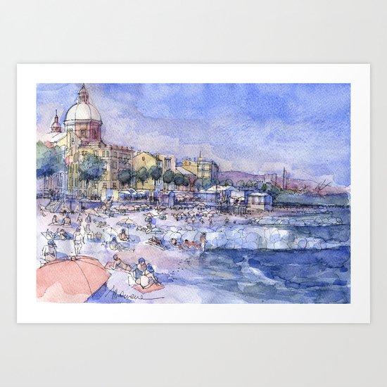 Spiagge a Pegli Art Print