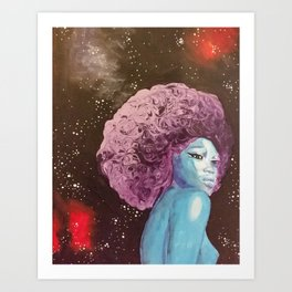 Deep Thinking Princess Art Print
