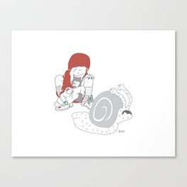 Run snail, RUN ! Canvas Print