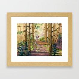 Walk Into The Light Framed Art Print