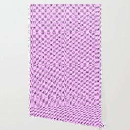 Dazzling Violet Polka Dots Wallpaper