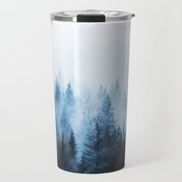 Misty Winter Forest Travel Mug