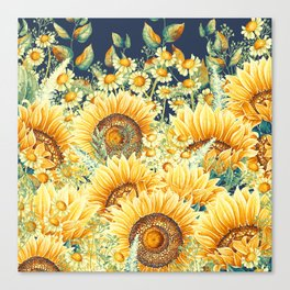 Vintage Garden (Sunflower Paradise) Canvas Print