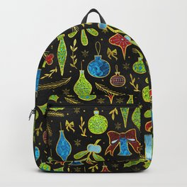 Fun Colorful Glitter Christmas pattern Backpack