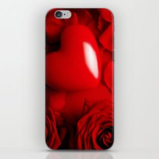 Red Love FLOWERS iPhone & iPod Skin