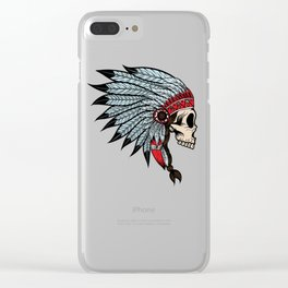 Indian skull Clear iPhone Case