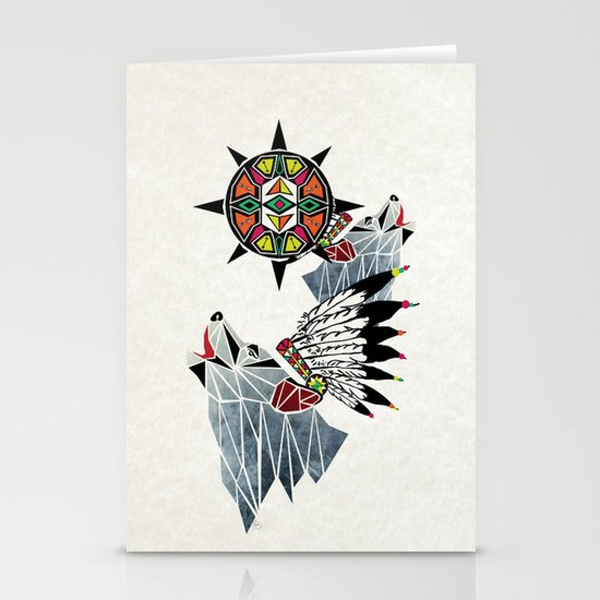 wolf king Stationery Cards