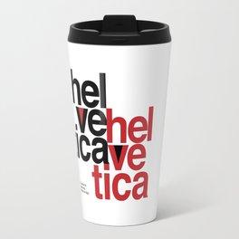 Suisse Swiss Helvetica Type Specimen Artwork in White Travel Mug