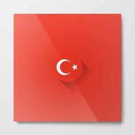 Minimal Turkey Flag Metal Print