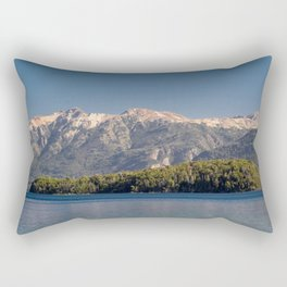 Island in the lake Rectangular Pillow