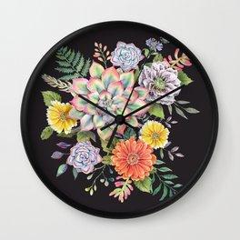 Watercolor Succulents #65 Wall Clock