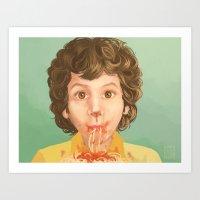 Les Gamins - Bon Gourmand Art Print