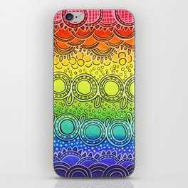 Rainbow Doodle iPhone Skin