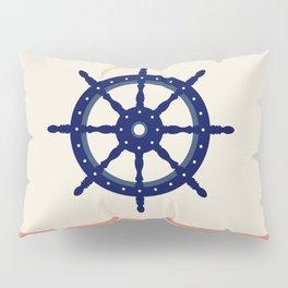 AFE Navy Helm Wheel, Nautica Art Pillow Sham