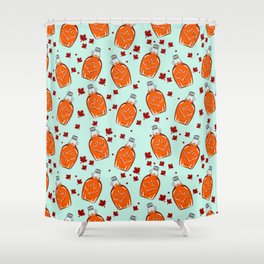 Super Canadian Maple Syrup Pattern Shower Curtain