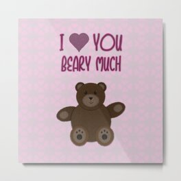 Beary Love Metal Print