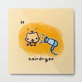H for hairdryer Metal Print