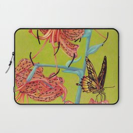 Tiger Lilies with Butterfly Laptop Sleeve