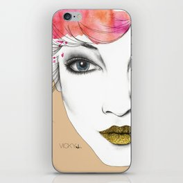 Life is a canvas, throw all the paint and sparkles on it you can iPhone Skin