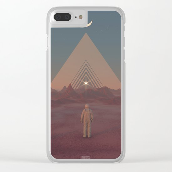 Lost Astronaut Series #01 - Enter the Void Clear iPhone Case