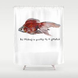 As Lacking In Privacy As A Goldfish Shower Curtain