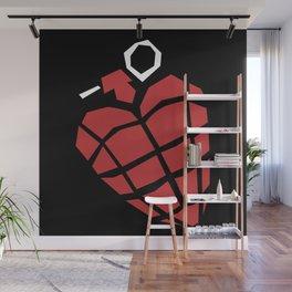 Heart Grenade Wall Mural