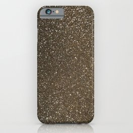 Bronze Gold Burnished Glitter iPhone Case