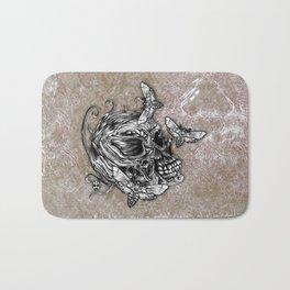 Human Skull Bath Mat