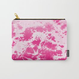 Simple Crumple Tie dyed Pattern Carry-All Pouch