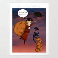 mary poppins Art Prints featuring Mary Poppins by Cécile Appert