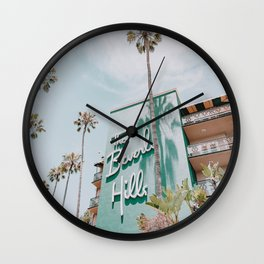 beverly hills / los angeles, california Wall Clock