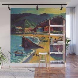 Cinque Terre al Mare Italian Coastline by Hermann Max Pechstein Wall Mural