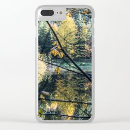 French lake in autumn Clear iPhone Case