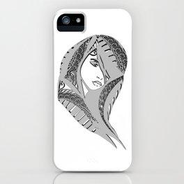 zentangle portrait 6 iPhone Case