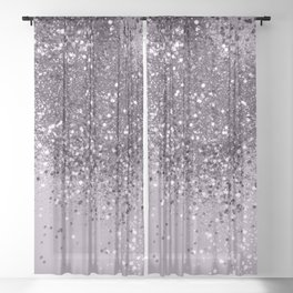 Sparkling Lavender Lady Glitter #2 #shiny #decor #art #society6 Sheer Curtain