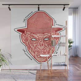 Cut Along Dotted Line Wall Mural