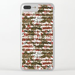 Grunge Textured Abstract Pattern Clear iPhone Case